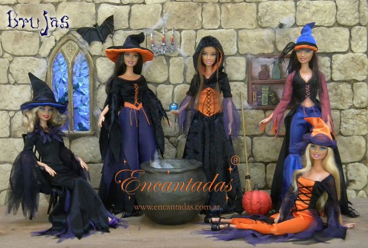 Five Witches Costumes For Barbie