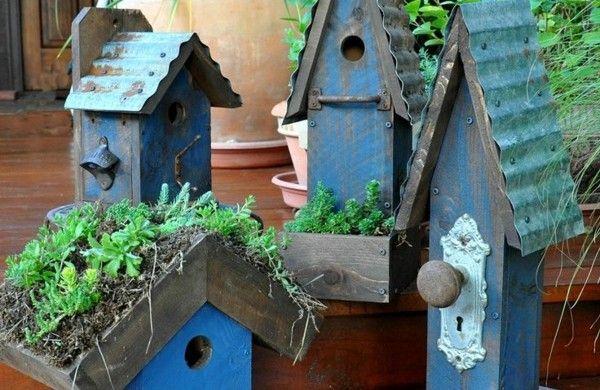 vogelhaus bauen holz umweltfreundlich blau