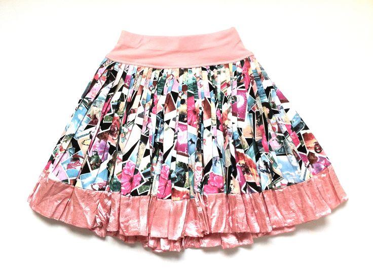 Vintage Photos Print Cotton Skirt w/ Sherbet Satin Trim | KAF KIDS : 51 Mackelvie Street, Grey Lynn, Auckland. #kidsfashion  http://kafkids.co.nz/