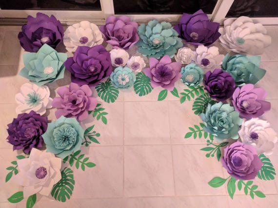 Flores de papel gigantes flores de papel / papel de telón de fondo de flor