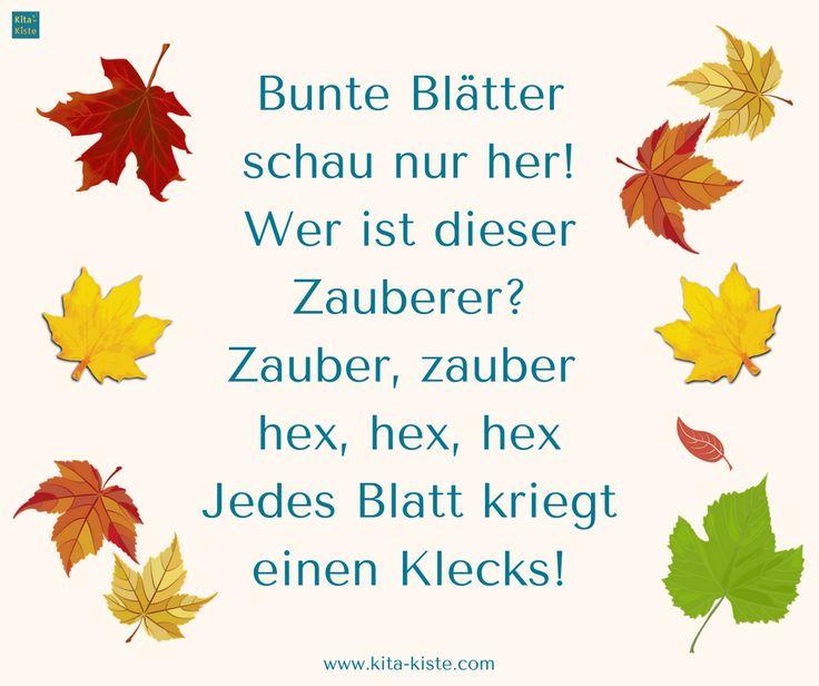"""Herbst-Reim, dazu gibt es auch ein Lied : """"Zauber, zauber - hex, hex"""" : www.kitakiste.jimdo.com"""