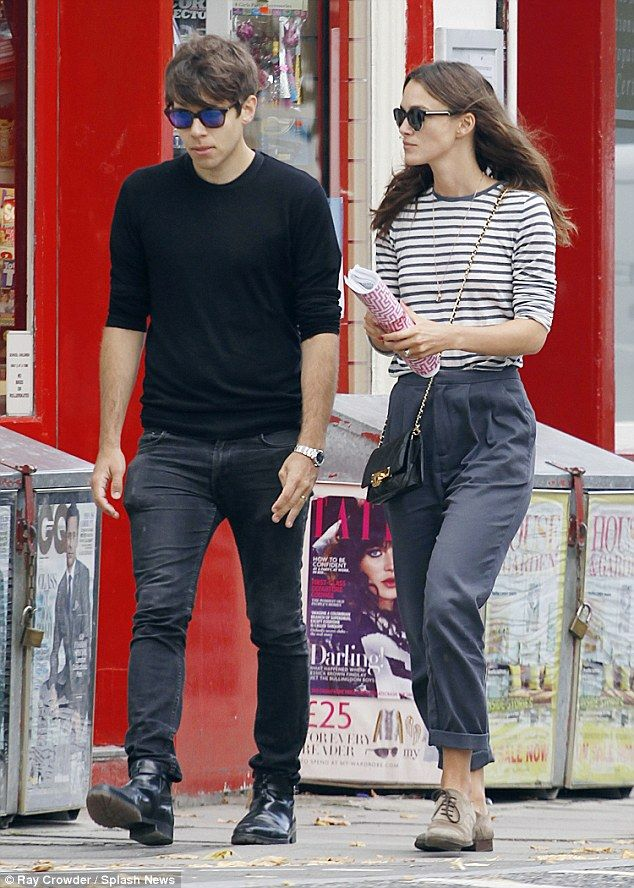 Low key: Actress Keira Knightley and Klaxons singer James Righton stepped out in North Lon...