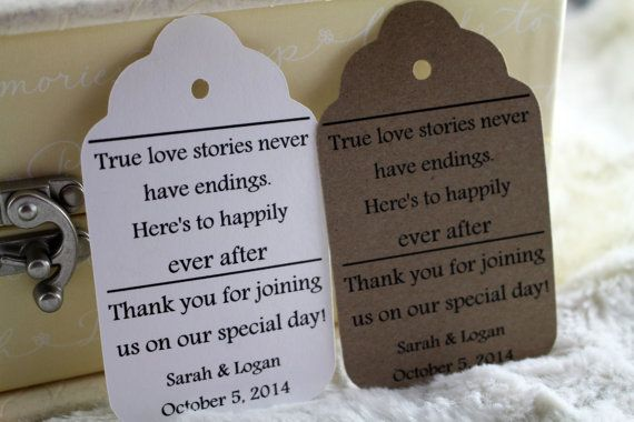 True Love Story Favor Tags Perfect for by SillyLoveSongCustoms