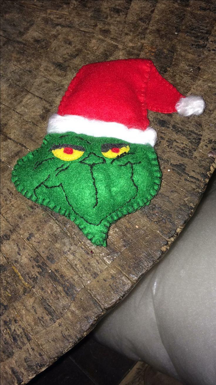Grinch felt Christmas decoration