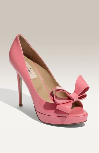 valentino pink bow pumps