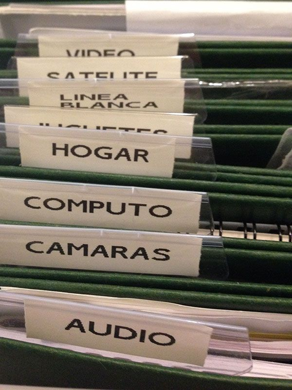 NACHOrganiza | Organización De Archivos Domésticos | http://nachorganiza.com