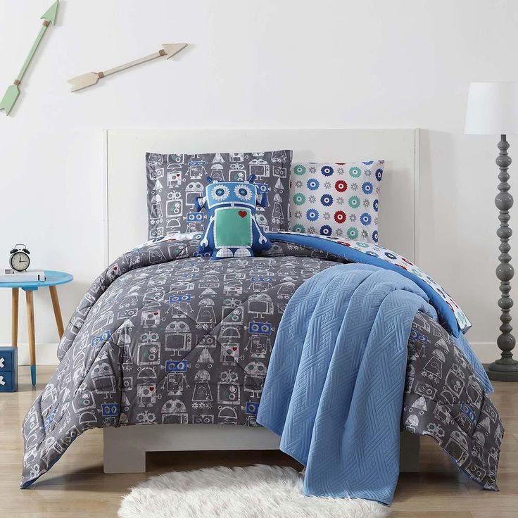 Robot Printed Kids Comforter Set