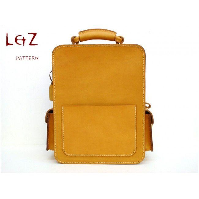 Bag Sewing Patterns Shoulder Pdf Bxk 29 Lzpattern Design Hand Sched Leather