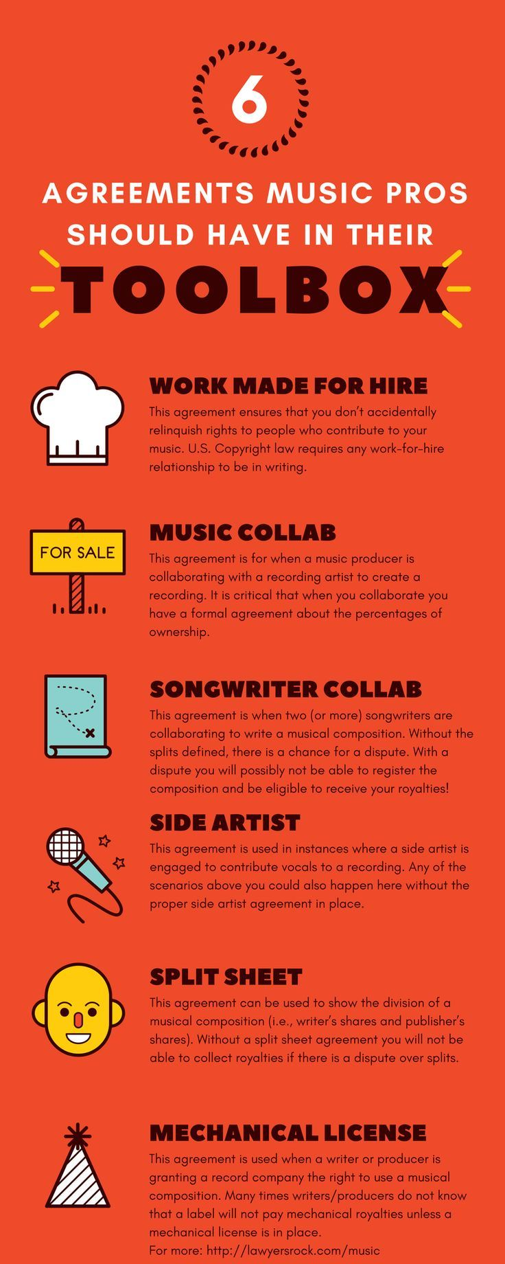 6 Agreements Every Music Professional Should Have In Their Toolbox Lawyersrock Music Business Music Pictures Songwriting