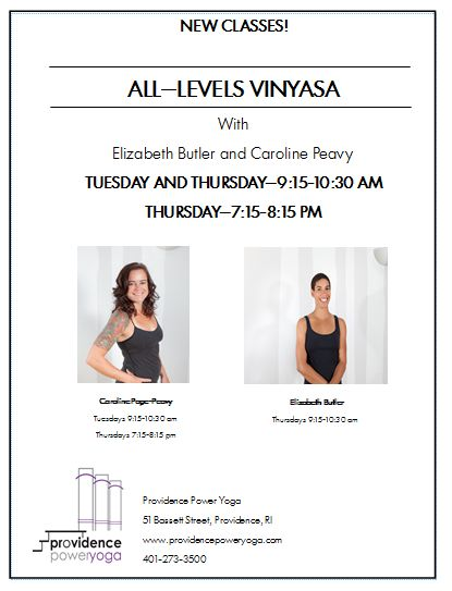 Improve your morning with a 9:15 am All Levels Vinyasa with these lovely ladies!