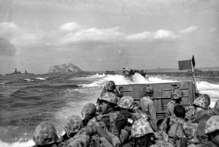 First morning, Iwo Jima, February 1945.