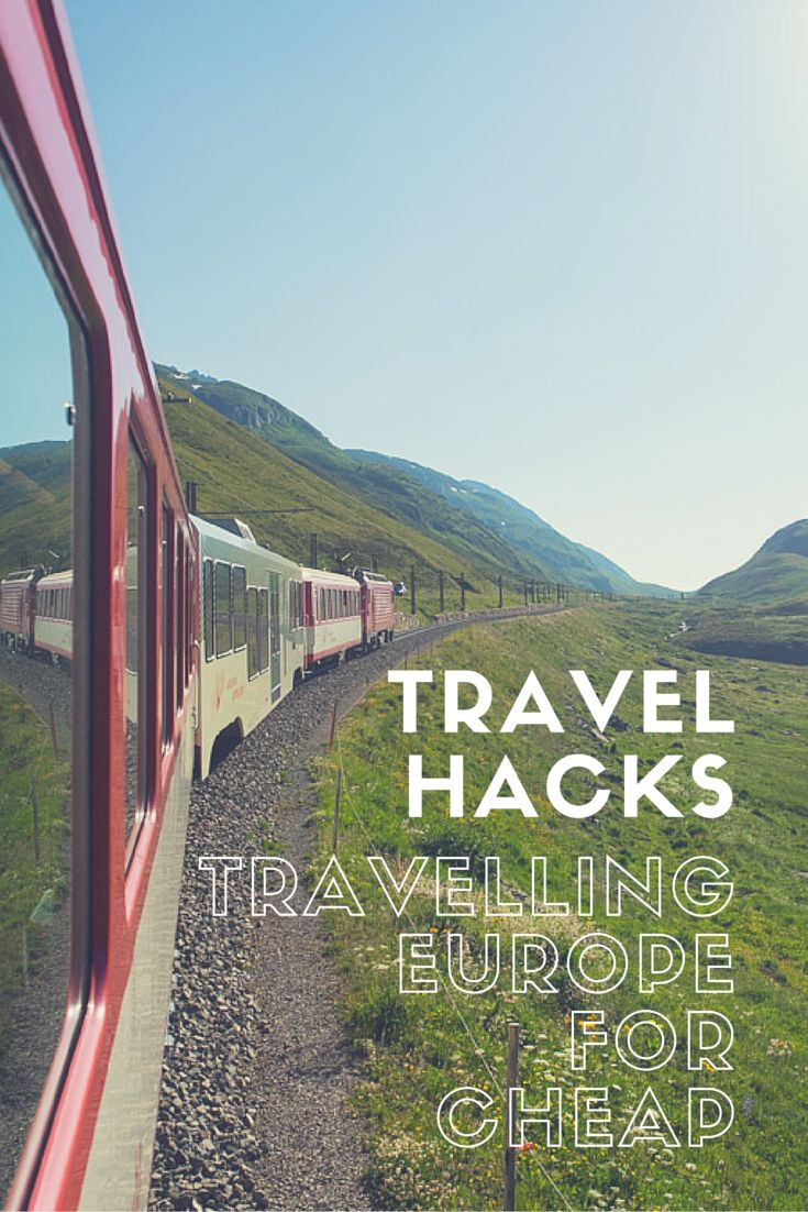 The top travel hacks for travelling Europe when you're on a budget.  Eurotrips don't have to be expensive.  You just need to know what to look out for when you plan your adventure.    Best of all, these travel hacks aren't just for those that want to backpack.  Anyone can leverage these!
