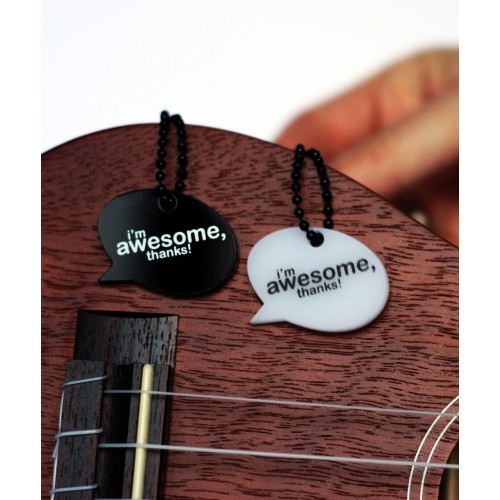 Pendant: Speak Awesome. I'm Awesome, Thanks! Awesome necklace, add a little awesomeness to your day. Awesome speech bubbles
