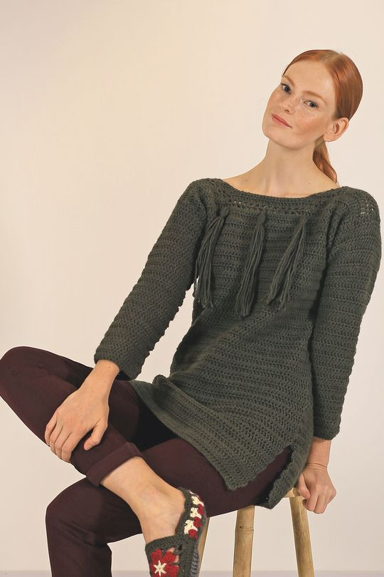 Naisen virkattu pusero Novita Nordic Wool, Novita Syksy 2015