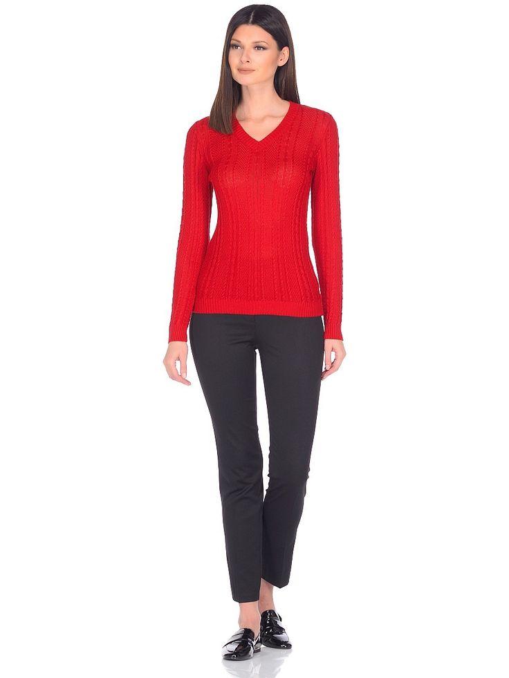 WJ-27106 пуловер красный. knit poulover msls