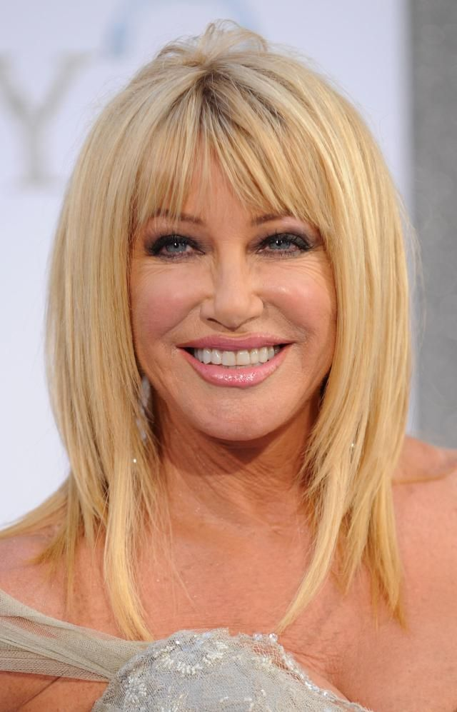 20 Great Hairstyles With Bangs: Suzanne Somers's Bangs