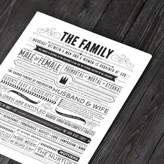 INSTANT DOWNLOAD /// The Family A Proclamation by CollectivityLane