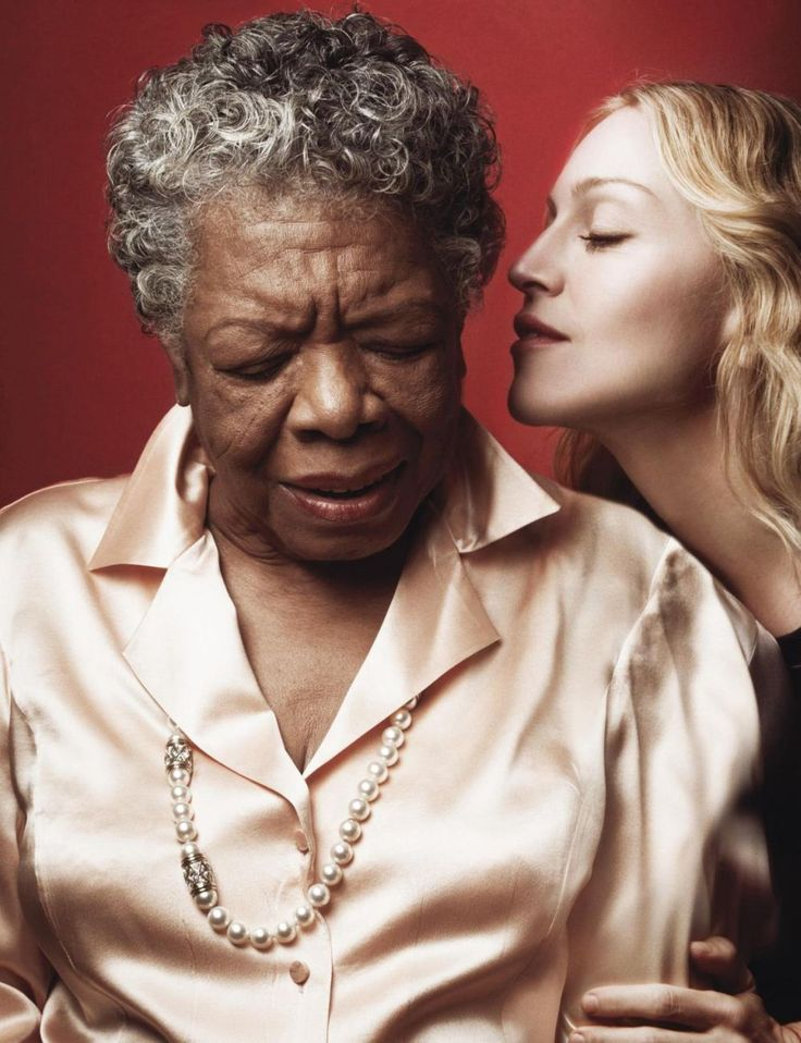 Maya Angelou and Madonna by Annie Leibovitz for Vanity Fair (2007)      Rest in peace Maya Angelou.