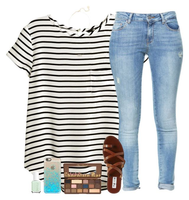 """""""~Luke 6:27-36~"""" by living-for-christ ❤ liked on Polyvore featuring H&M, Zara, Steve Madden, Casetify, Essie and Kendra Scott"""