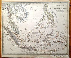 121 best indonesian map yusikom images on pinterest maps 1836 rare antique map indonesia siam malay archipelago southeast asia thailand burma laos vietnam cambodia sciox Images