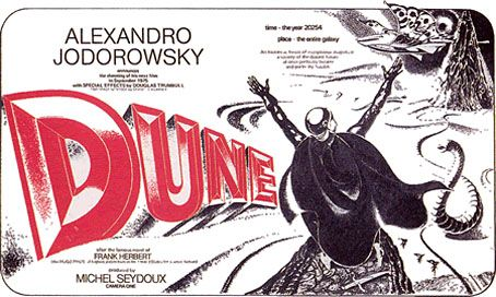 Maybe the greatest film ever that didn't get made: Alejandro Jodorowsky's Dune.