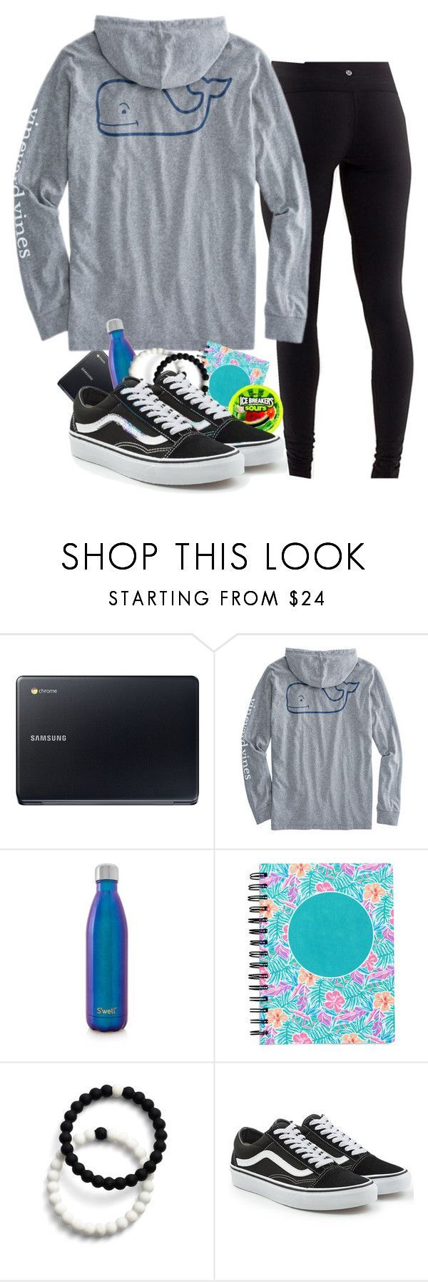 """why do ppl at my school have literally everything?"" by lorla3407 on Polyvore featuring Samsung, S'well, Lokai and Vans #schooloutfits"