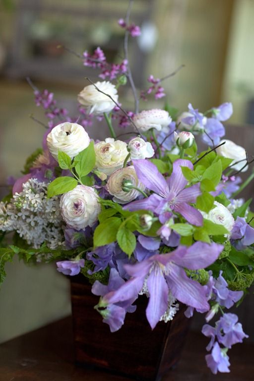 Lilac and clematis Lilac Wedding Flower Ideas and Inspirations - Unusual?? very different