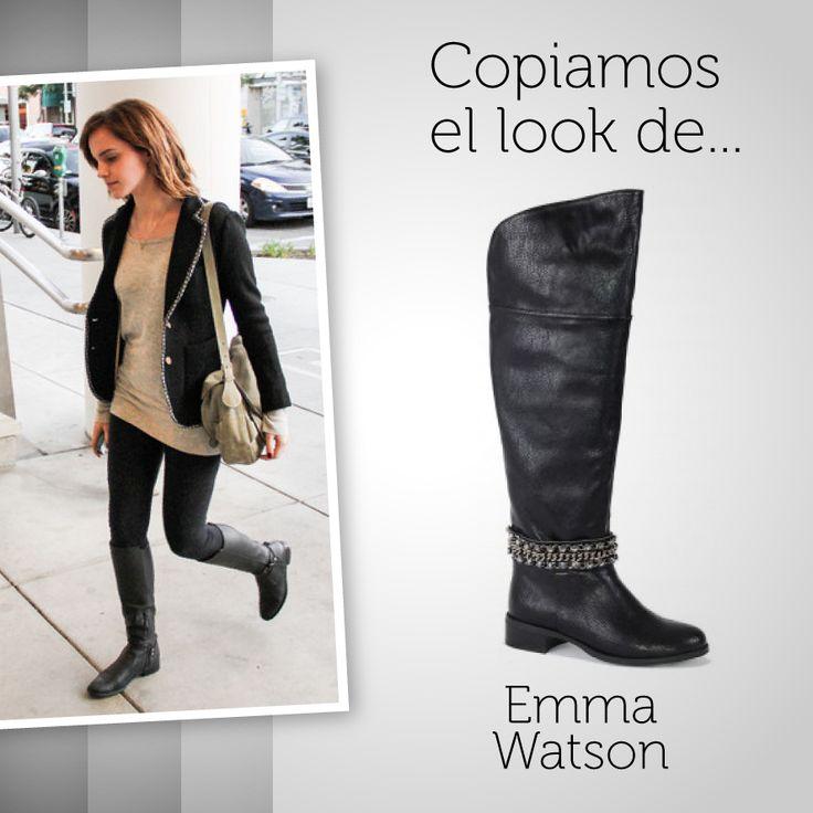 Emma Watson se une a las botas altas con una de las tendencias de esta temporada: los brillantes. ¿Te apuntas?