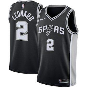 Kawhi Leonard San Antonio Spurs Nike Swingman Jersey Black - Icon Edition f4df441bf