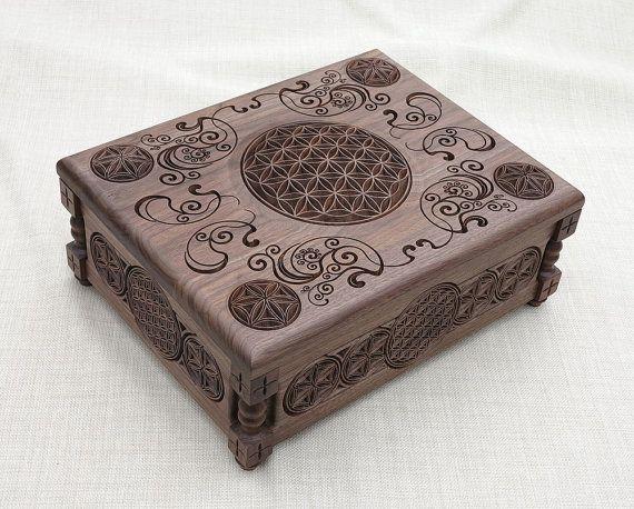 Bloem van het leven  sieraden doos verzamelaars door BulgarMaster