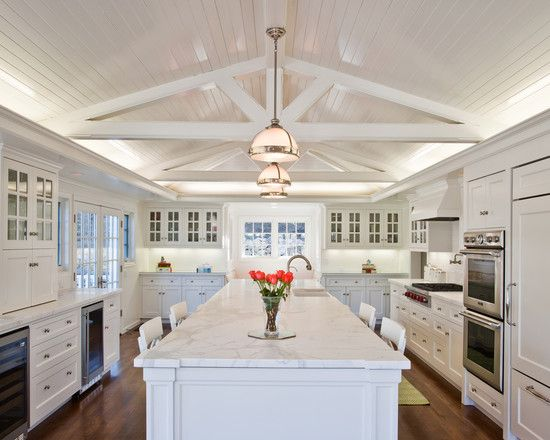 traditional spaces large kitchen design, pictures, remodel, decor