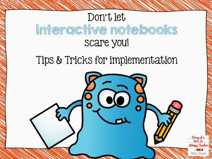 Diary of a Not So Wimpy Teacher: Summer Stick Up: Don't Let Interactive Notebooks Scare You