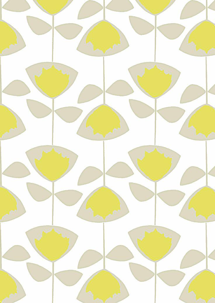SQ King protea print in Grey & Zesty Yellow