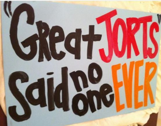 Vols may not like the jorts, but they sure got beat by them..... (ESPN College Gameday sign 9/15/12) #SECrivalryhumor