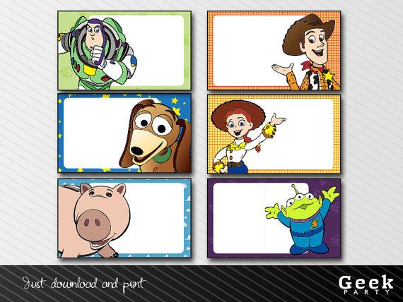 toy story labels instant download printable jessy woody buzz martian
