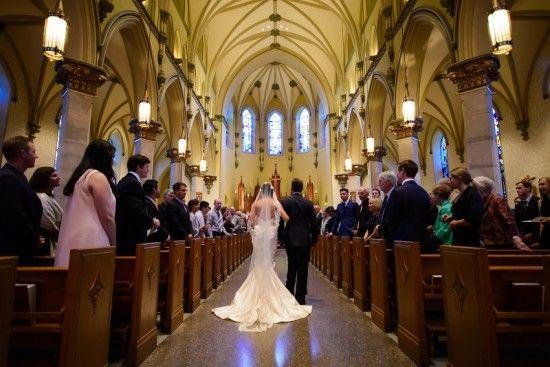 Classic Maryland wedding Catholic ceremony