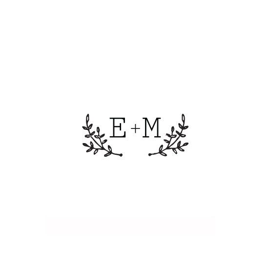 Weddings Self Inking Monogram Stamp Stationery Script Wedding Diy
