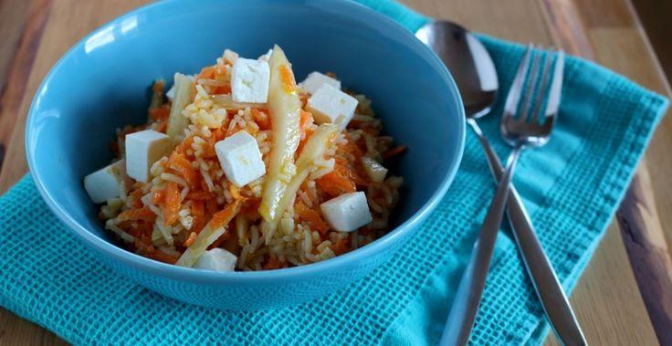 Les Batoilles » Salade de riz rafraîchissante aux carottes et fenouils