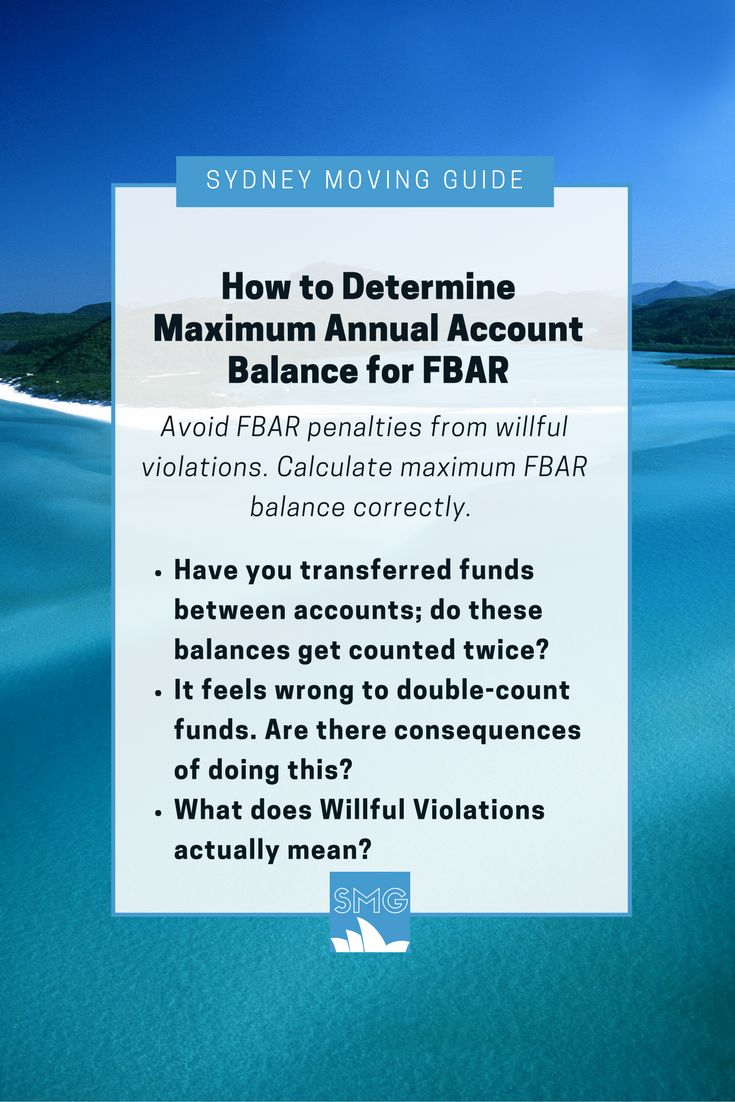 US #Expat #Tax: Do you know that the deadline for your FBAR has been changed from June 30th to April 15th? Avoid FBAR penalties from willful violations. Be sure you calculate maximum FBAR balance correctly. FBAR penalties can be up to $100,000. Find out more at http://sydneymovingguide.com/fbarbalance