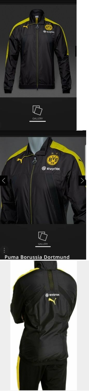 Soccer-International Clubs 2887: Puma Borussia Dortmund 16 17 Stadium Vent Jacket Puma Black Cyber Yellow S And L -> BUY IT NOW ONLY: $45.59 on eBay!