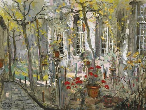 'Garden' - Adrien Jean Le Mayeur de Merprès (1880-1958)