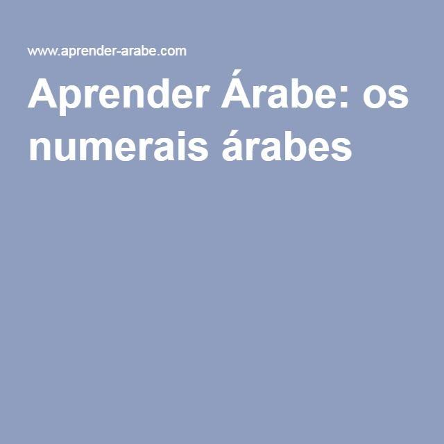 Aprender Árabe: os numerais árabes