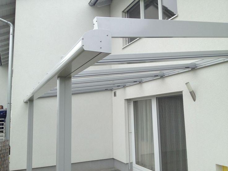 Glasüberdachung Terrasse Aus Aluminium Und Glas Mit Regenrinne! #Ideen  #Gestaltung #Terrassenüberdachung #