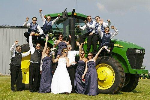 John Deere wedding party