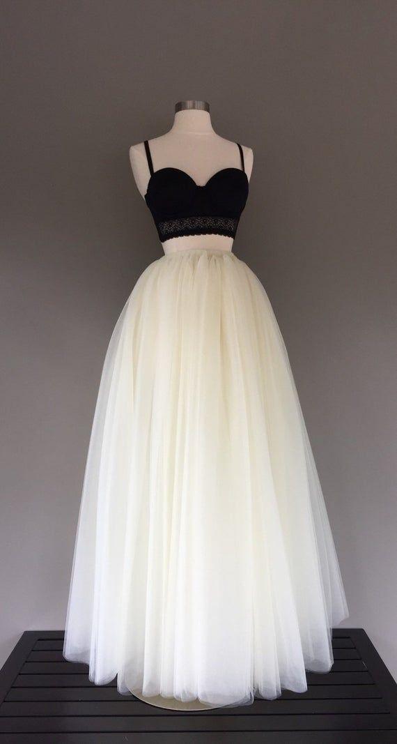 Floor Length Tulle Skirt Ivory Tulle Skirt Adult Tutu Ivory