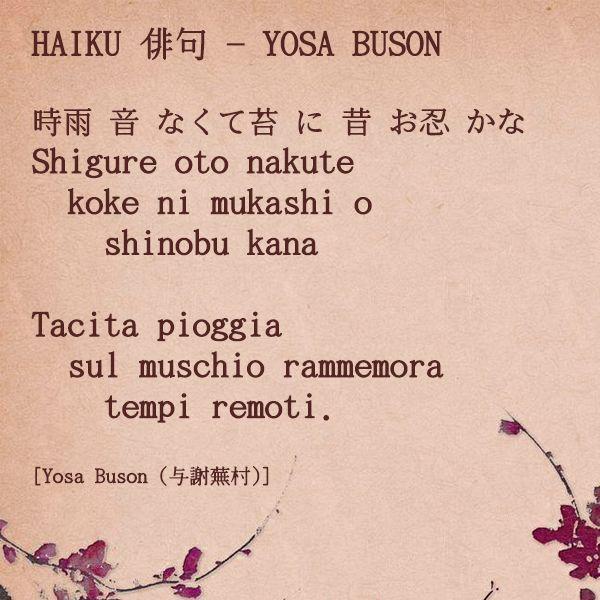 Haiku - Yosa Buson