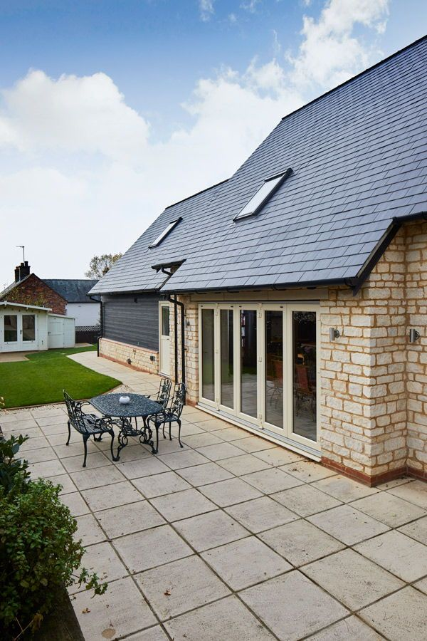 Country Cottage Self Build English Village Style Home But There S Also Gorgeous Sleek Cladding The Cladding Show House Exterior Exterior Brick Patio Stones