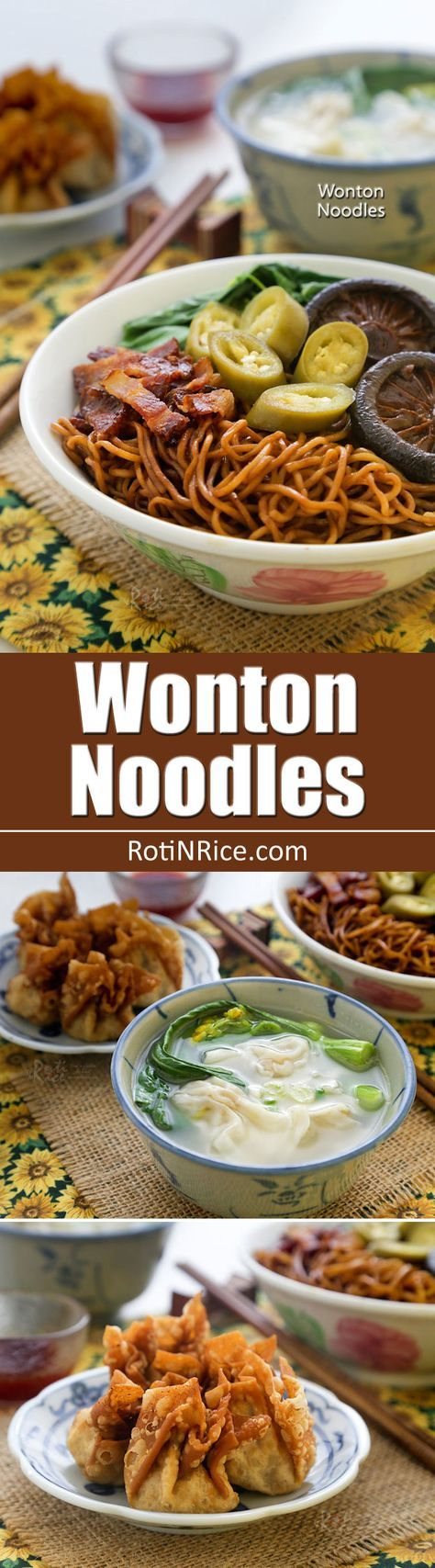 Blue apron wonton noodles - Dry Style Wonton Noodles Tossed In A Dark Soy Sauce Dressing Served With Wontons Braised
