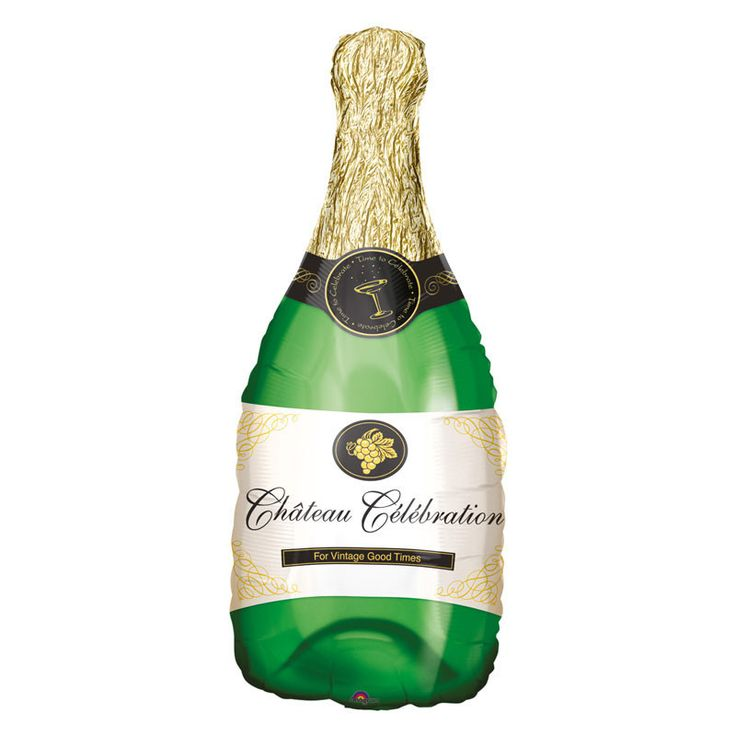 Folienballon Champagner Flasche 91 cm hoch – My Great Party