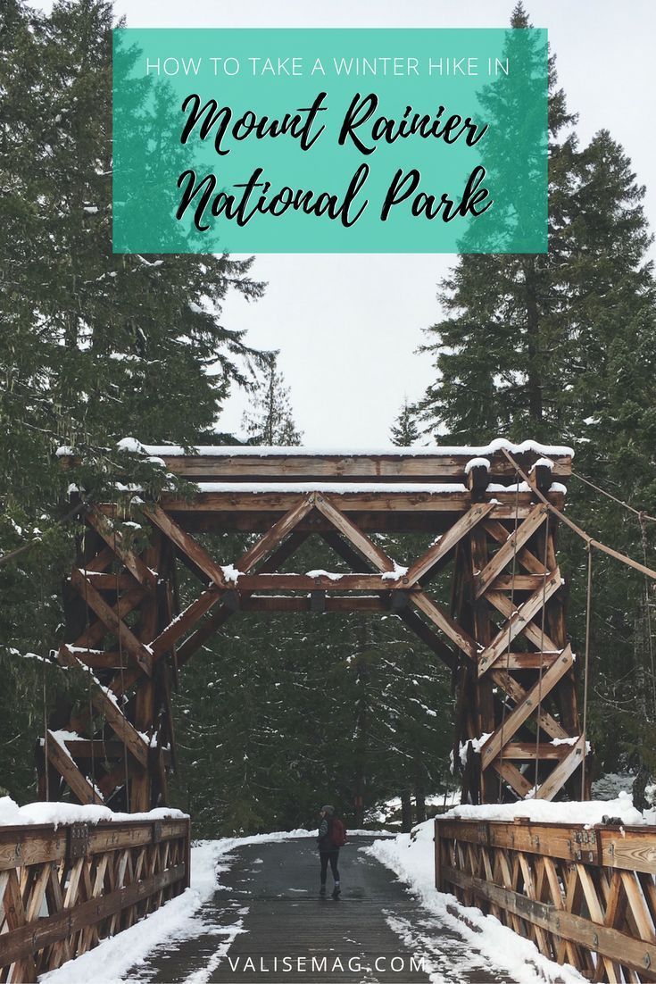 Snow is falling in the Cascades! Here's everything you need to know, to take a great winter hike in Mount Rainier National Park.